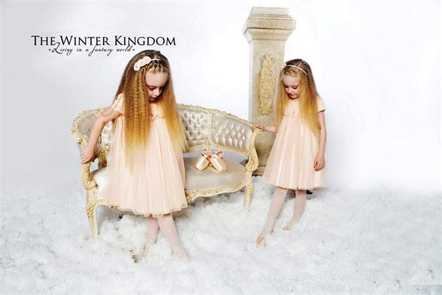 Christina & Despoina, twin angels in a fairytale..